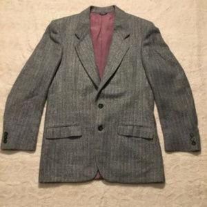 Givenchy Men's Blue Herringbone Sport Coat Jacket